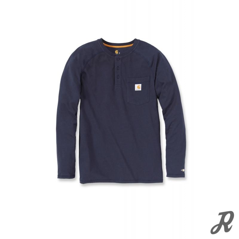 3dac6c48509e58 Carhartt Force Cotton Langarm T-Shirt mit Knopfleiste und Brusttasche,  24,90 €