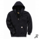 Carhartt Paxton Heavyweight Hooded Zip Front Sweatshirt - black - XL