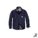 Carhartt Weathered Canvas Shirt Jacket - navy - M