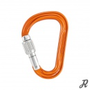 Petzl Attache Asymmetrischer Aluminium-Karabiner B-Form Screwlock - orange-silber