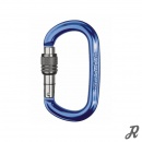 Singing Rock Ozone Oval Aluminium-Karabiner O-Form Screwlock - blau