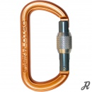 Skylotec Oval Aluminium-Karabiner O-Form Screwlock - orange-grau