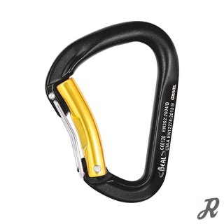 Beal Twin Belay D Aluminium-Karabiner D-Form Twin Gate
