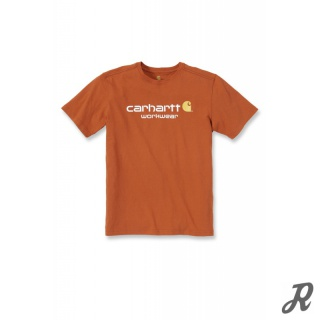 Carhartt Core Logo Short Sleeve T-Shirt - rust