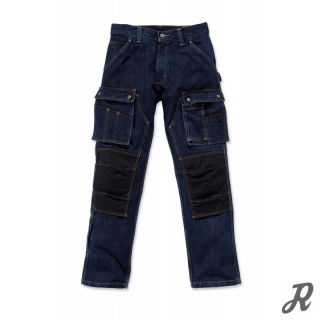 Carhartt Denim Multi Pocket Tech Pant - dark worn-in