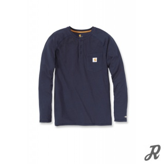 Carhartt Force Delmont Cotton Long Sleeve Henley