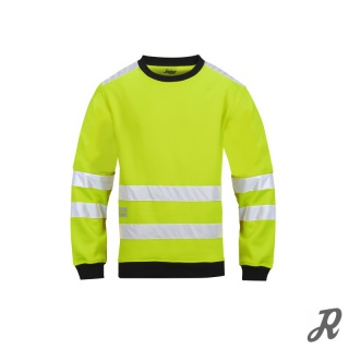 Snickers High-Vis Mikro Fleece Pullover Klasse 3